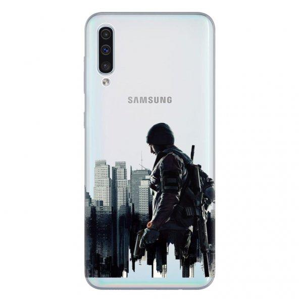 Samsung Galaxy A50 Kılıf Desenli Esnek Silikon Telefon Kabı Kapak - Tom Clayns