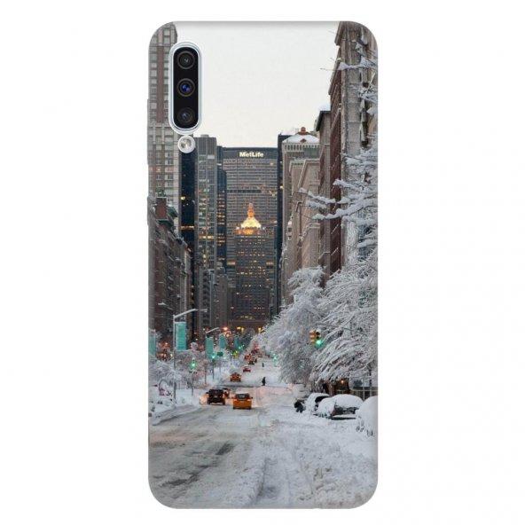 Samsung Galaxy A50 Kılıf Desenli Esnek Silikon Telefon Kabı Kapak - Winter York