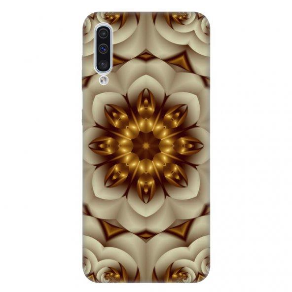 Samsung Galaxy A50 Kılıf Desenli Esnek Silikon Telefon Kabı Kapak - 2D Mandala