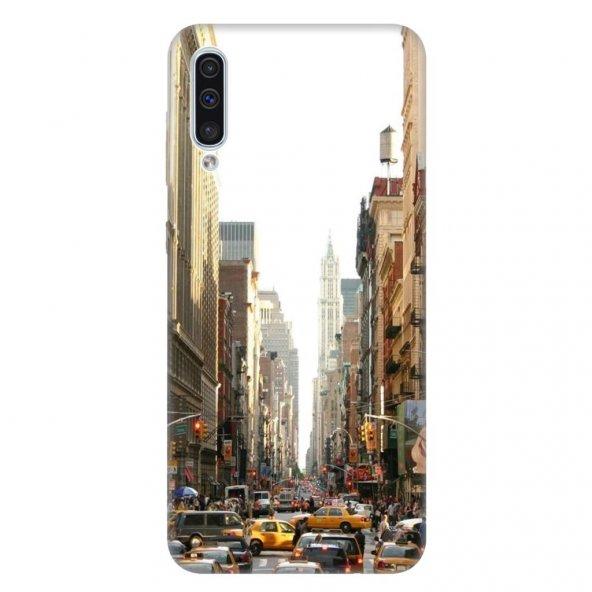 Samsung Galaxy A50 Kılıf Desenli Esnek Silikon Telefon Kabı Kapak - NewYork Trafik