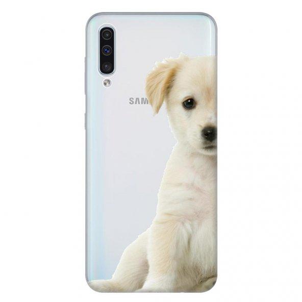 Samsung Galaxy A50 Kılıf Desenli Esnek Silikon Telefon Kabı Kapak - Mini Golden