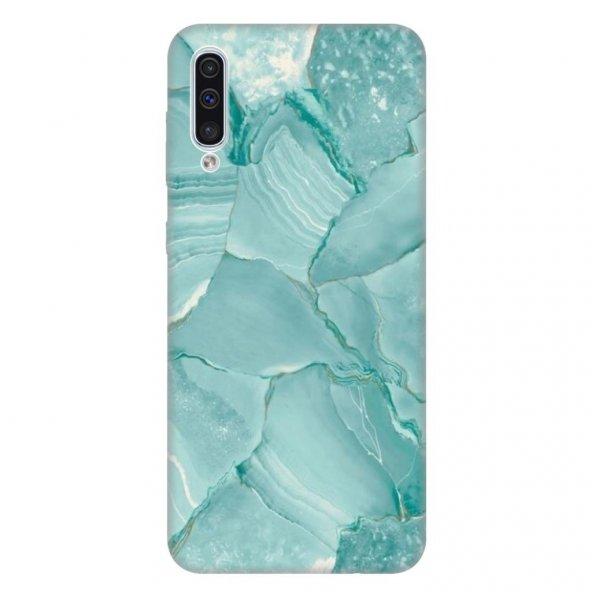 Samsung Galaxy A50 Kılıf Desenli Esnek Silikon Telefon Kabı Kapak - Yakut