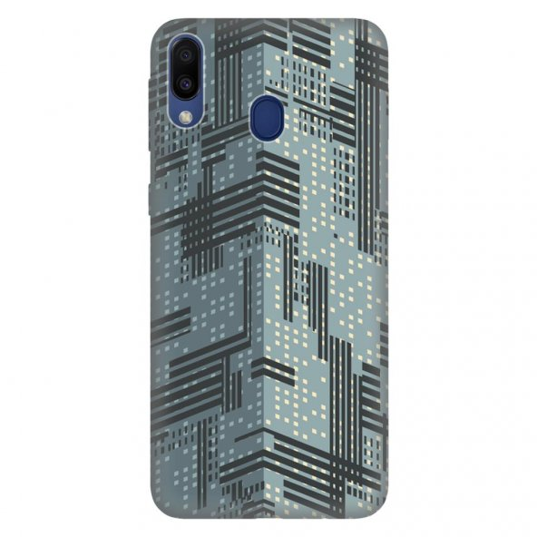 Samsung Galaxy M30 Kılıf Desenli Esnek Silikon Telefon Kabı Kapak - 3D New York