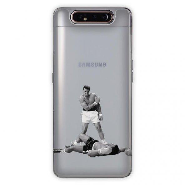 Samsung Galaxy A80 Kılıf Desenli Esnek Silikon Telefon Kabı Kapak - Muhammed Ali