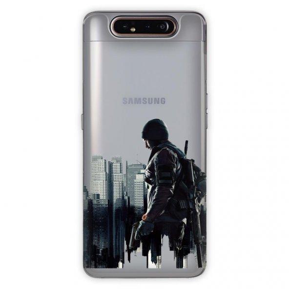 Samsung Galaxy A80 Kılıf Desenli Esnek Silikon Telefon Kabı Kapak - Tom Clayns
