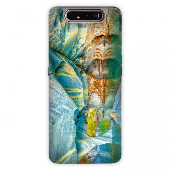 Samsung Galaxy A80 Kılıf Desenli Esnek Silikon Telefon Kabı Kapak - Mağara
