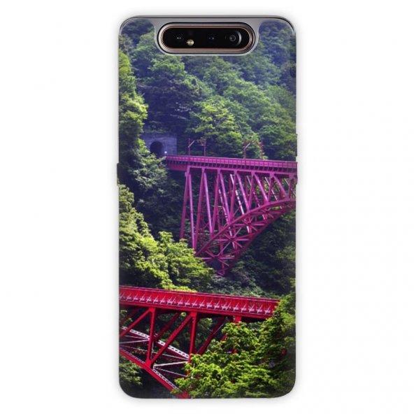 Samsung Galaxy A80 Kılıf Desenli Esnek Silikon Telefon Kabı Kapak - Japon Yapıt