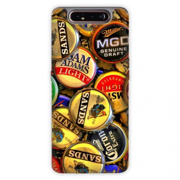 Samsung Galaxy A80 Kılıf Desenli Esnek Silikon Telefon Kabı Kapak - QapaQ Kapak
