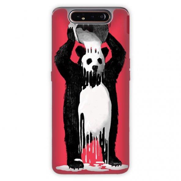 Samsung Galaxy A80 Kılıf Desenli Esnek Silikon Telefon Kabı Kapak - Panda Kingo
