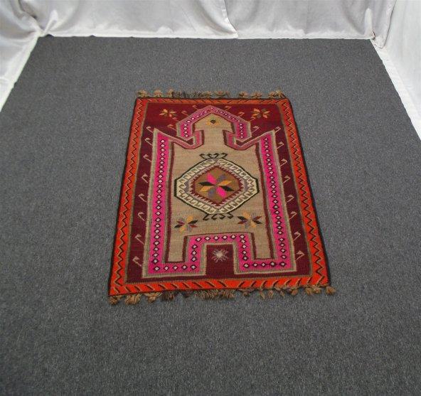 Antika El Dokuma Spesifik Başyapıt Erzurum Bardız Yün Kilim !