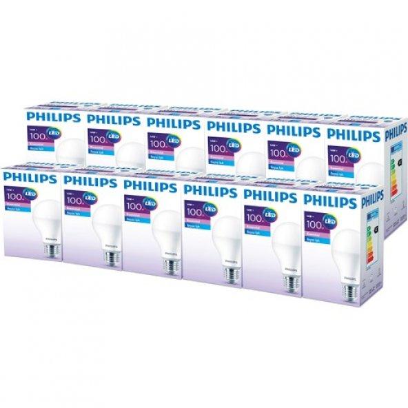 Philips ESS LEDBulb 14-100W E27 Normal Duy Beyaz Işık 12li Ekopaket