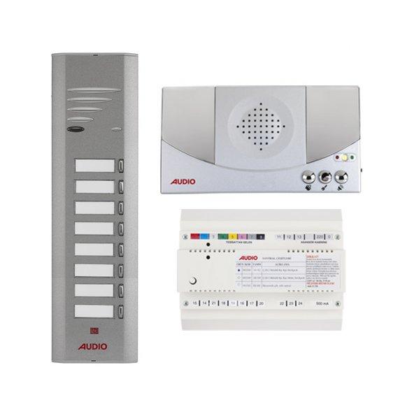Audio Konsept Serisi 8 Dairelik Kapıcılı Diafon Sistemi