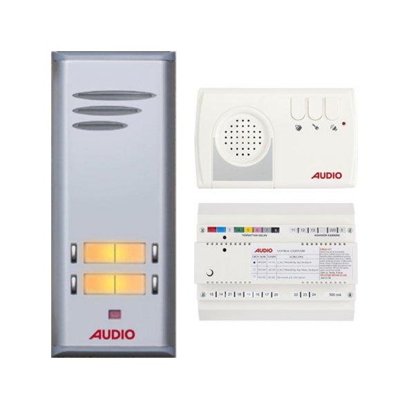 Audio Basic Serisi 3 Dairelik Kapıcılı Diafon Sistemi