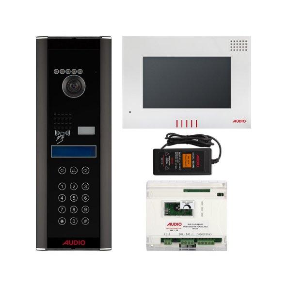 Audio 59 Dairelik Dokunmatik Panelli Görüntülü Diafon Paketi 7 inç