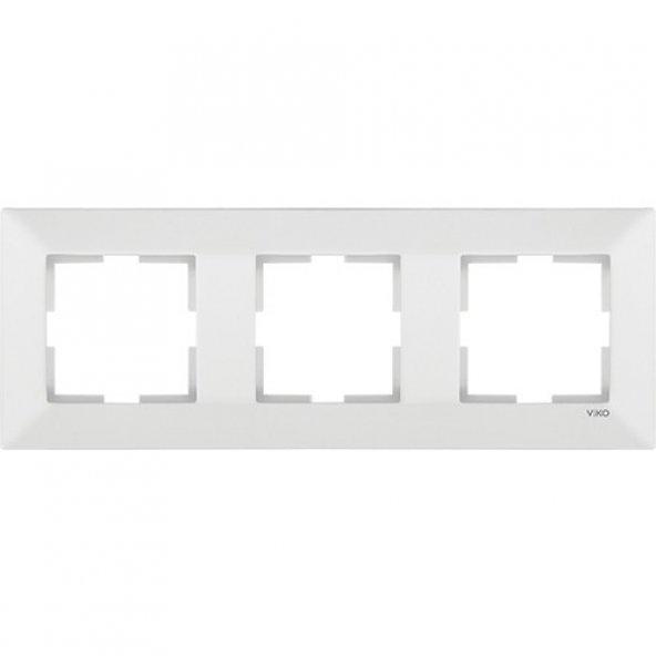 Viko Meridian Beyaz Üçlü Çerçeve Yatay