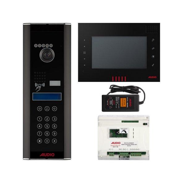 Audio 43 Dairelik Dokunmatik Panelli Görüntülü Diafon Paketi 7 inç