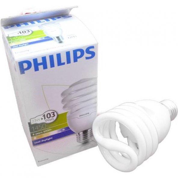Phılıps 23W Tasarruflu Spiral Ampul E27 (Beyaz Işık)