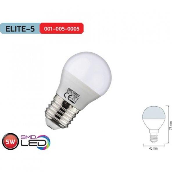 Horoz Elite5 E14 Duylu 4200K Ilık Beyaz 5 Watt Led Ampül