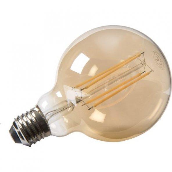 Maxima G95 Edison Led 6W Uzun Filament 2700K Amber Sarı Işık