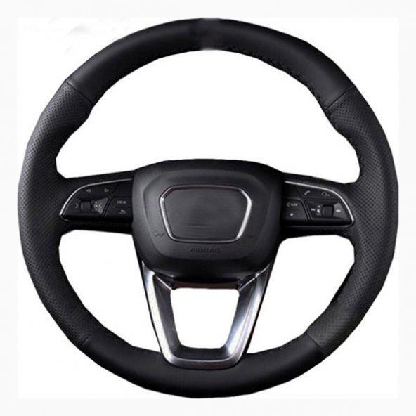 Volkswagen Bora Deri Direksiyon Kılıfı Araca Özel Dikmeli