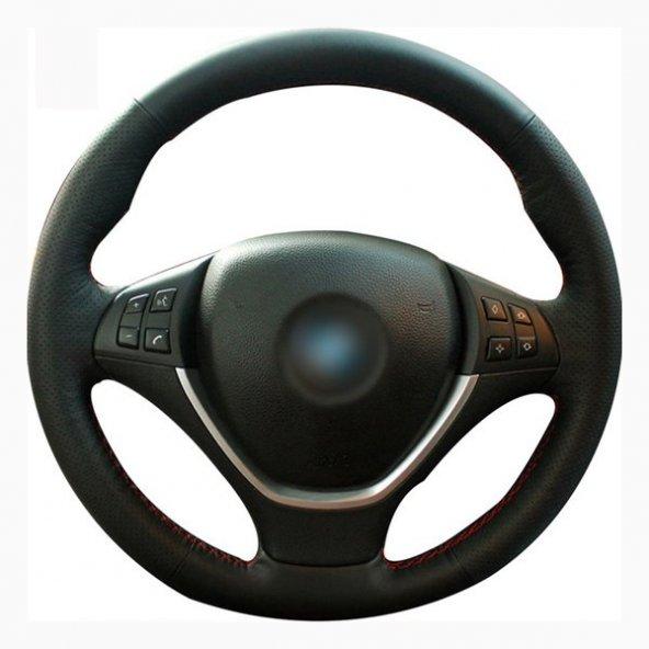 Toyota Auris 2007-09 Deri Direksiyon Kılıfı Araca Özel Dikmeli