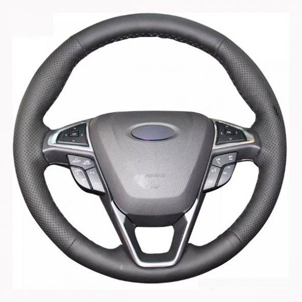 Renault Clio 2013 Sonrası Deri Direksiyon Kılıfı Araca Özel Dikme