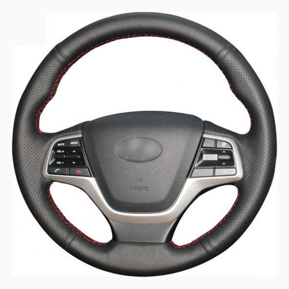 Opel Astra H Deri Direksiyon Kılıfı Araca Özel Dikmeli