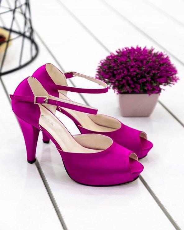 Edna20 Fuşya Topuklu Ayakkabı