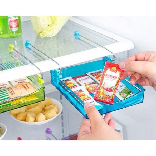 Buzdolabı İçi Pratik Çekmece Raf Kahvaltılık ilaçlık Dolap Rafı