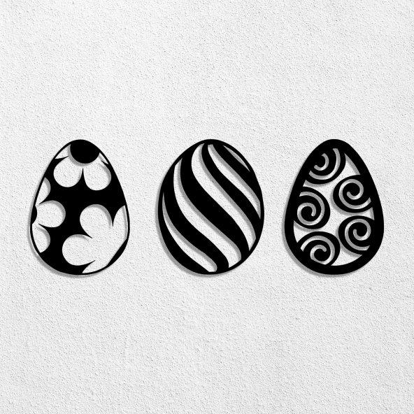 Yumurtalar (Eggs) Metal Ev Bahçe Duvar Süs Hediye Tablo Aksesuar