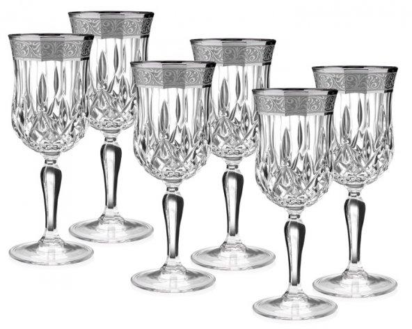 Porio Pr66-1112-Grand Gümüş Kırmızı şarap Kadeh