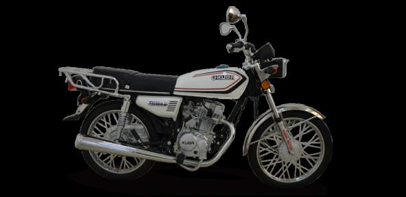 KUBA KM125-6 KLASİK TEL JANT MOTOSİKLET (BEYAZ)