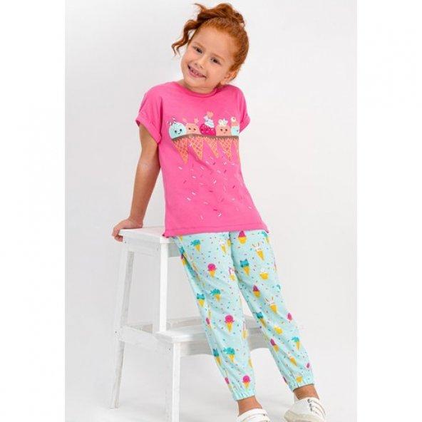 RolyPoly Cute Ice Cream Pembe Kız Çocuk Pijama Takımı