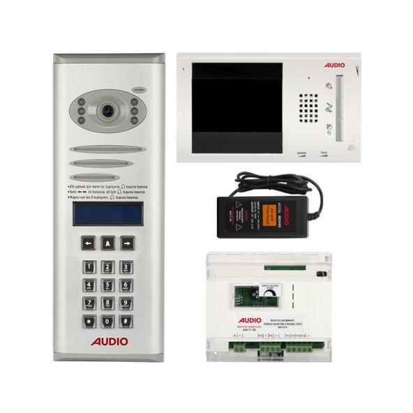 Audio 18 Dairelik Dijital Panelli Görüntülü Diafon Paketi 4.3 inç