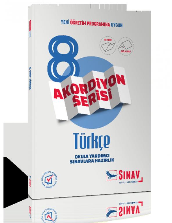 Sınav Yayınları 8. Sınıf Türkçe Akordiyon Kitap