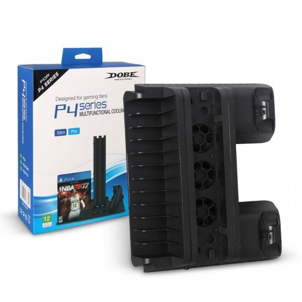 Dobe Sony PS4 Fanlı Şarj Stand Fat/Slim/Pro Uyumlu