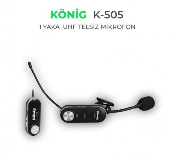 König K-505 UHF Yaka Tip Telsiz Miktofon