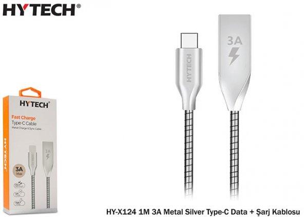 Hytech Metal Type-C Şarj ve Data Kablosu 1metre 3Amper