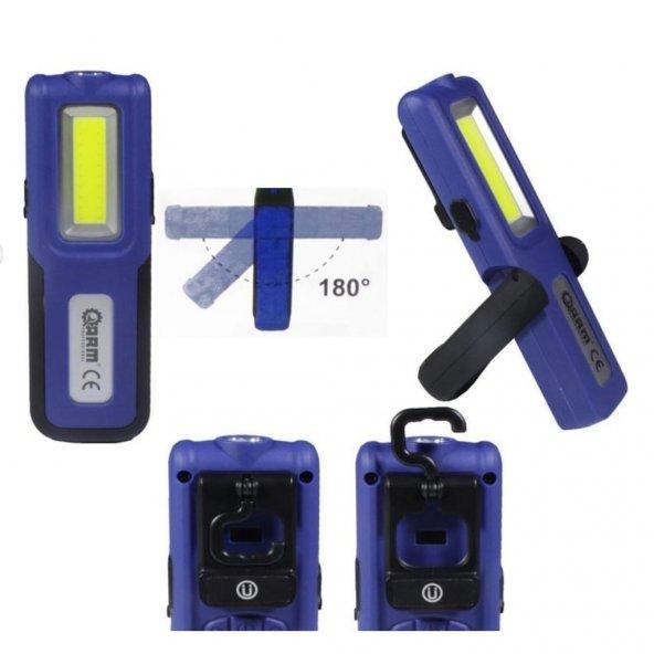 Arm 18002 Şarjlı Mıknatıslı Led Fener Lamba Powerbank 420 Lümen