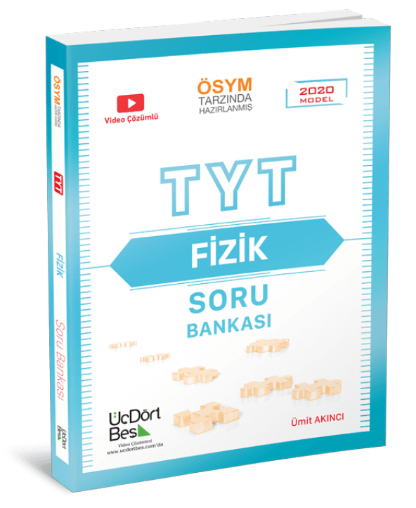 345 Yayın TYT Fizik Soru Bankası Üçdörtbeş TYT 2020