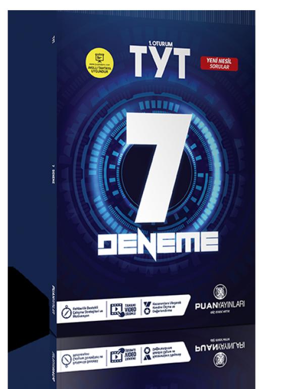Puan Yayınları TYT Video Çözümlü 7 Deneme