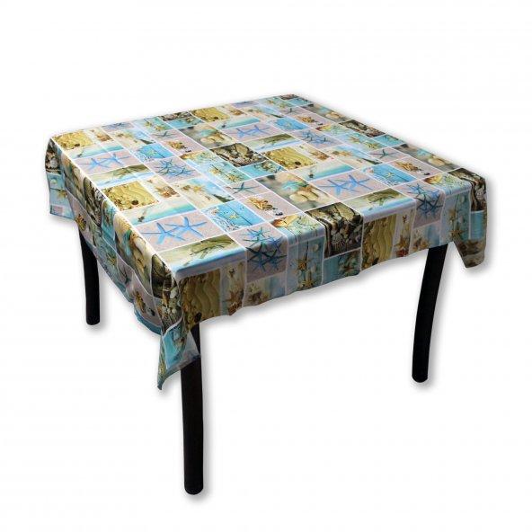 Masa Örtüsü Kumaş Desenli Masa Örtüsü 125 x 165 cm Kumsal