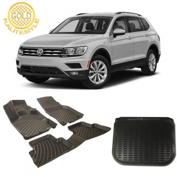 Volkswagen Tiguan 3D Havuzlu Paspas ve Bagaj Havuzu 2008-2015