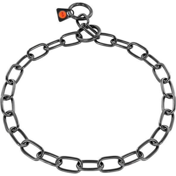 Sprenger Kürk Koruyucu Paslanmaz Çelik Siyah 3mm/50cm Köpek Tasma, Orta Boy Bakla