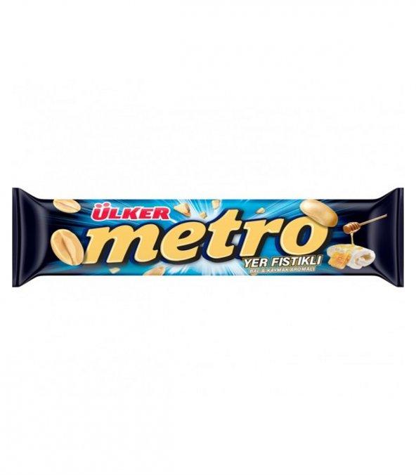 Ülker Metro Bal Kaymak Yer Fıstıklı Çikolata 36 gr 24 Lü Paket