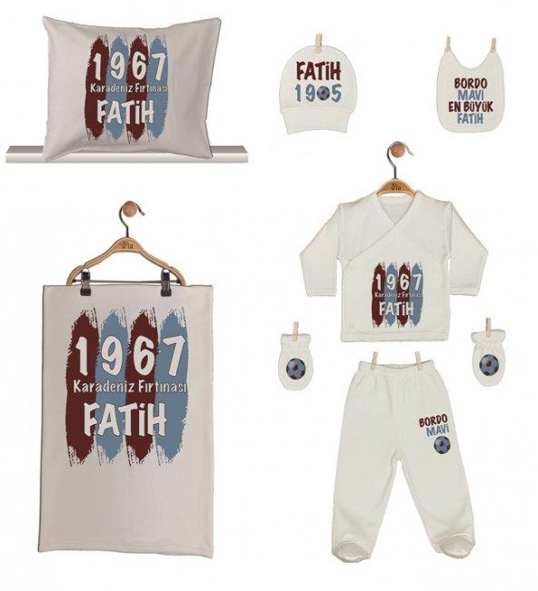 Pia Baby GL 1962-06 İsme Özel Taraftar Yastık Battaniye Zıbın Set