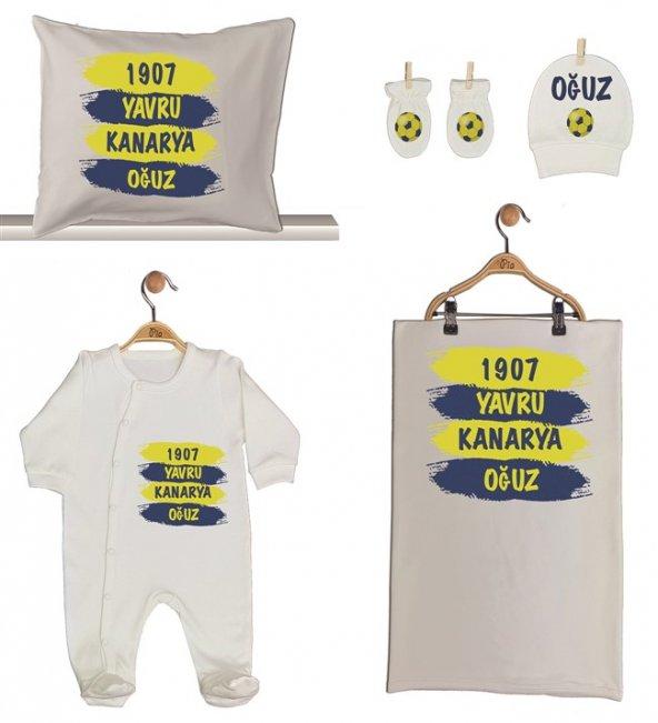 Pia Baby GL 1959-02 İsme Özel Taraftar Beşli Tulum Set