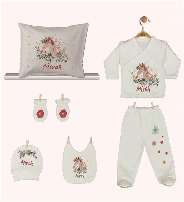 Pia Baby GL 1949-08 İsme Özel Yastık Zıbın Set