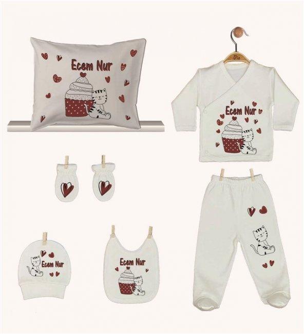 Pia Baby GL 1921-08 İsme Özel Yastık Zıbın Set