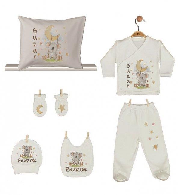 Pia Baby GL 1911-08 İsme Özel Yastık Zıbın Set